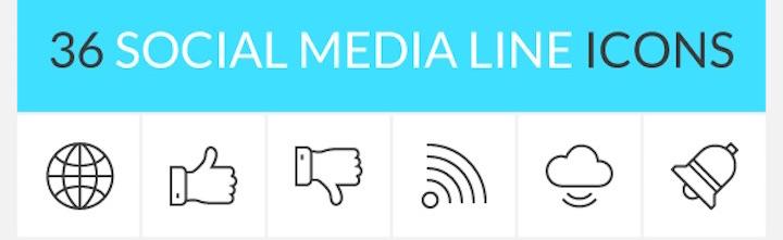 free-social-media-line-icon-set