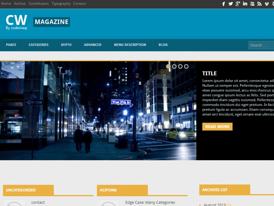 wordpress CW Magazine- theme