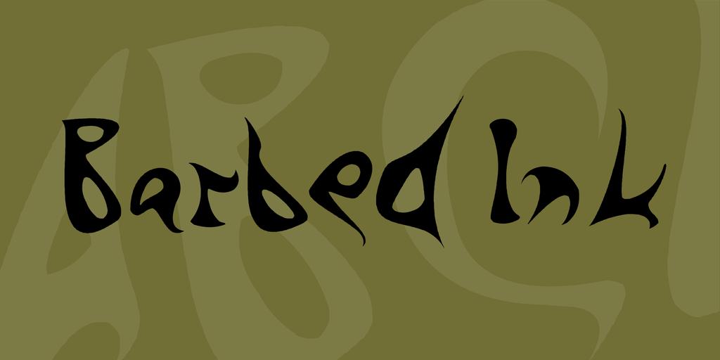 barbed-ink-font