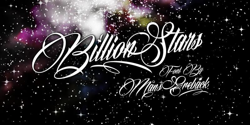 billion-star-font