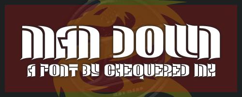 man-down-font