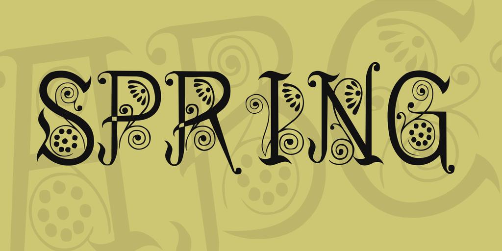 spring-tattoo-font