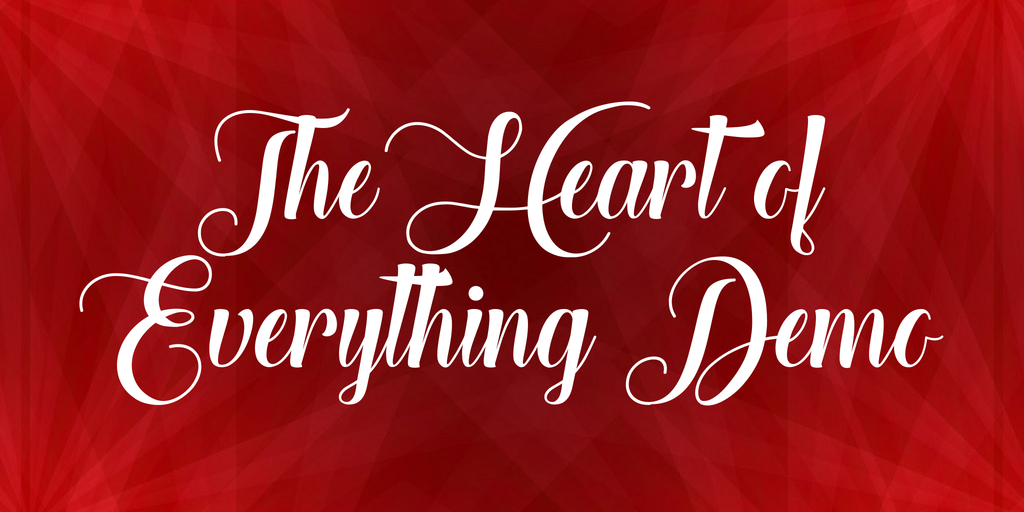 the-heart-of-everything-demo-font