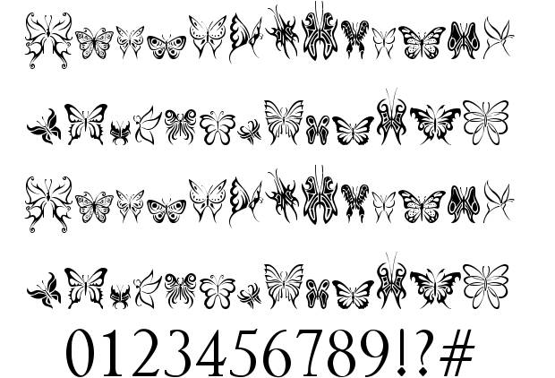 tribal-butterflies-font