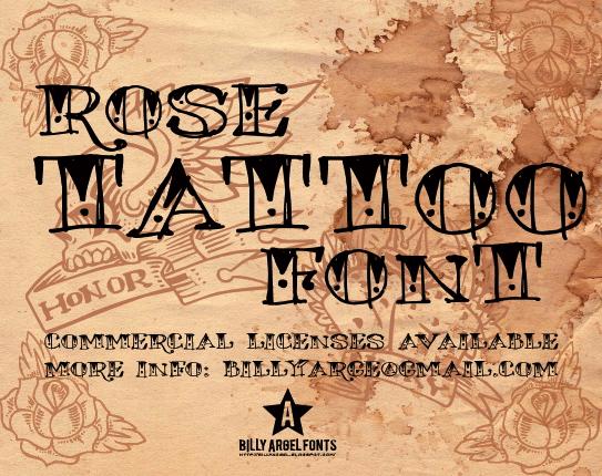 rose-tattoo-font