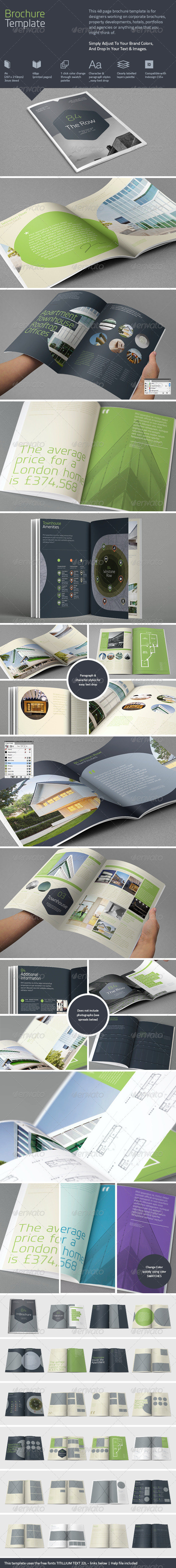 48 page brochure templates