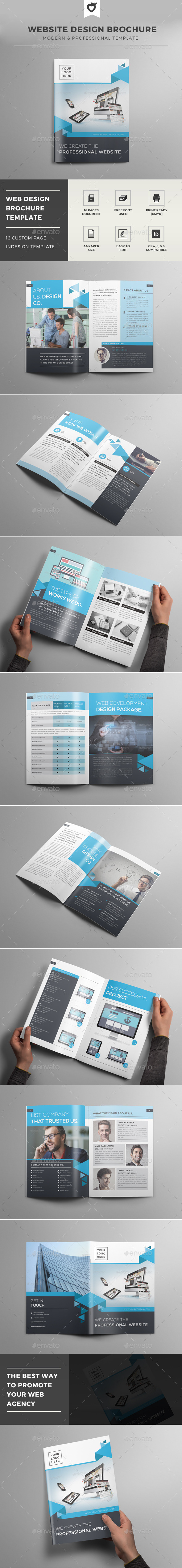 website-design-brochure-template