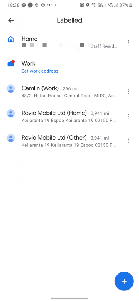 traffic to Home or Work on Android or iOS 2