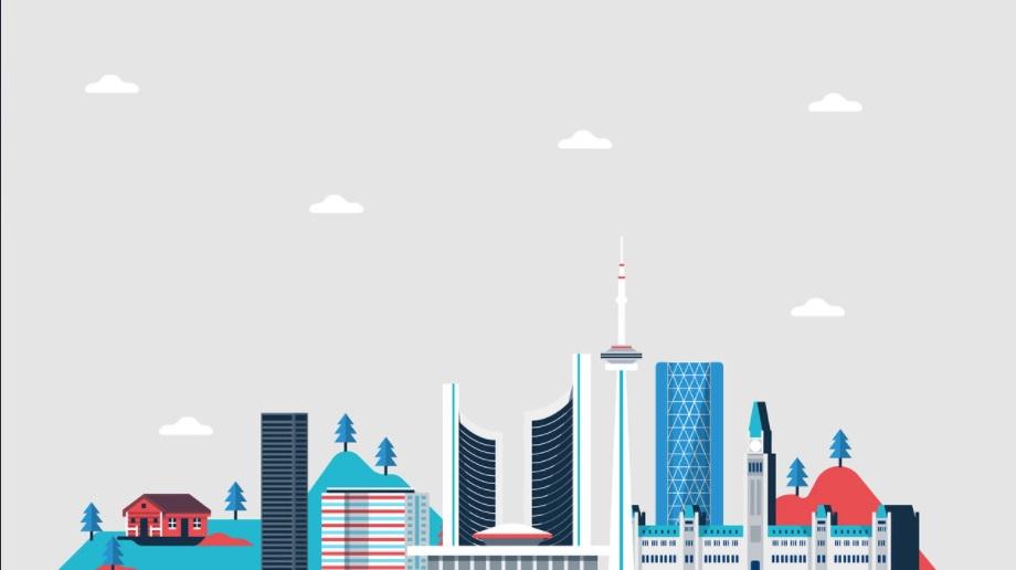 City Skyline - Minimalist Desktop Wallpapers