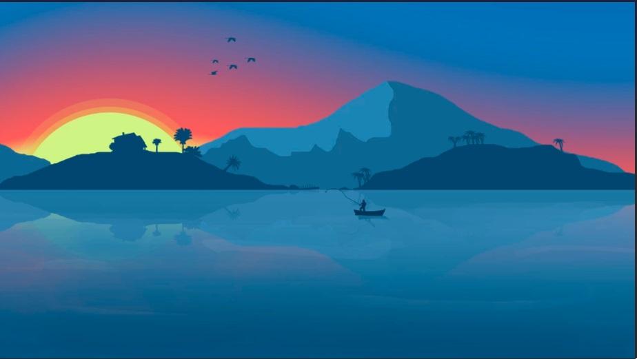 lake - minimalist desktop wallpapers