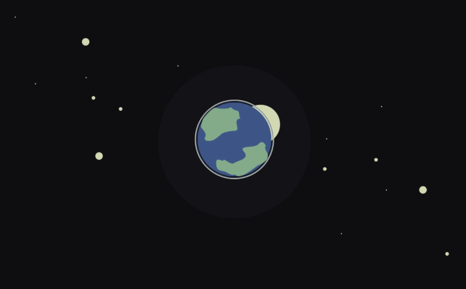 earth and the moon - minimalist desktop wallpapers