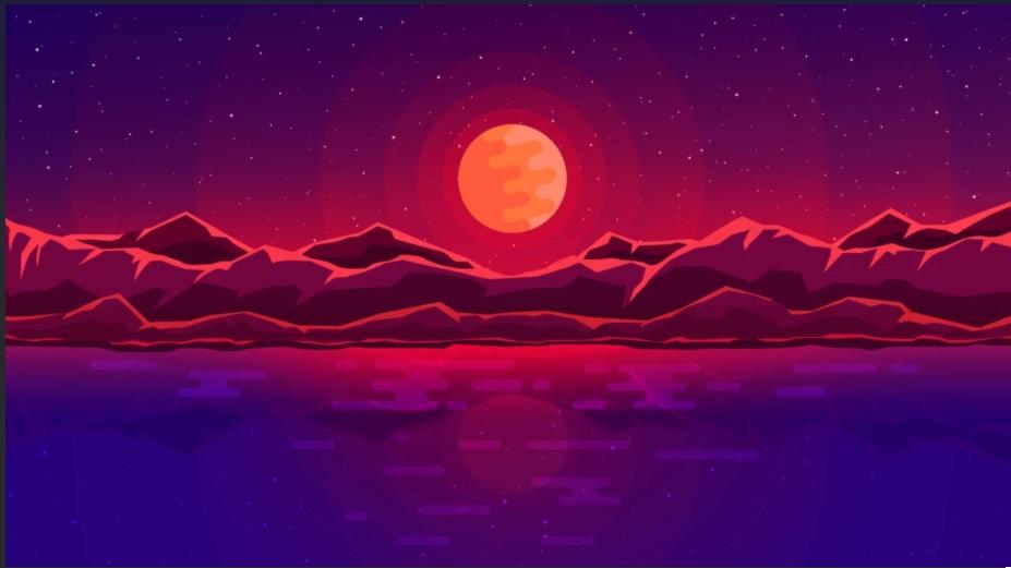 red and purple - minimalist desktop wallpapers