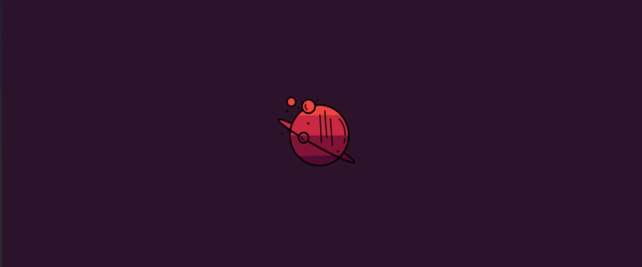 red planet and rings - minimalist desktop wallpapers